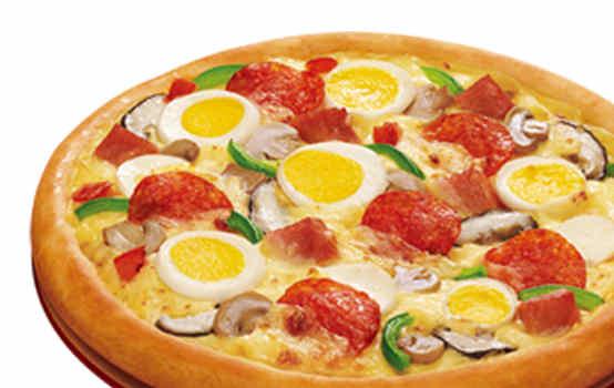 意式蛋香满溢腊肠比萨