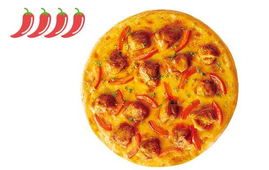 印度鬼椒风味鸡肉比萨