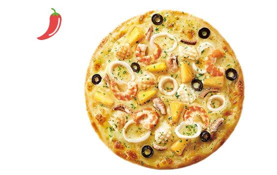 法国芥末风味海鲜比萨