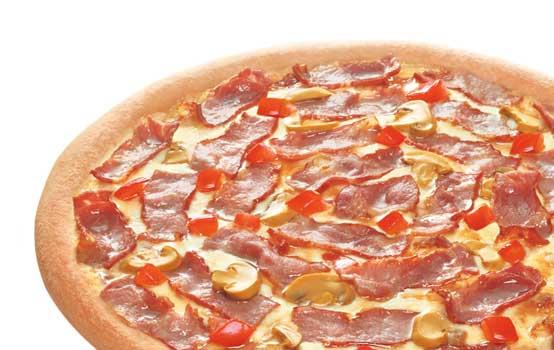 鲜香培根比萨