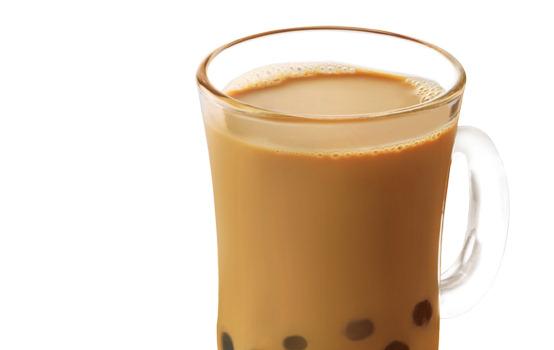 热红豆珍珠奶茶