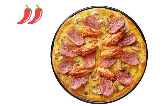 韩国泡菜风味猪肉比萨