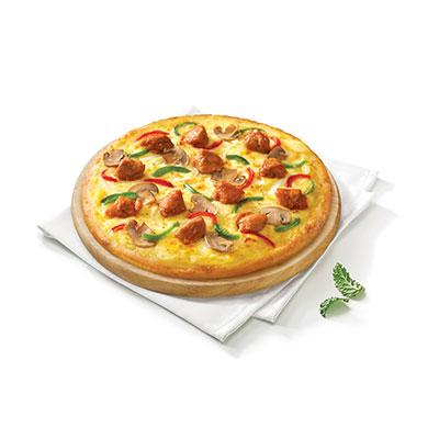 秘制喷香烤鸡肉比萨