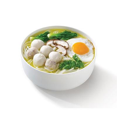 港式鱼丸米线加荷包蛋