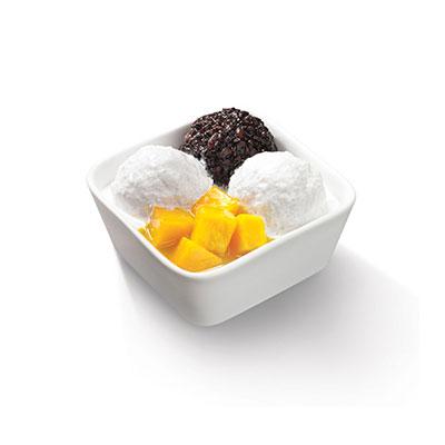 下午茶-芒果浮雪黑糯米甜甜