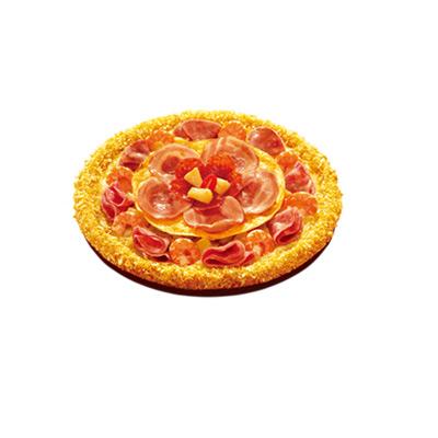 双层饕餮芝士卷边比萨