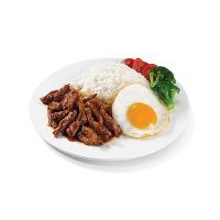 川香牛肉饭加荷包蛋
