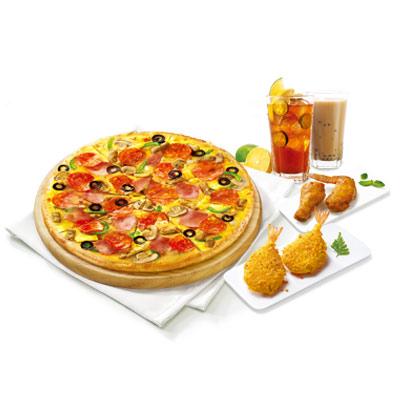 升级比萨超值套餐