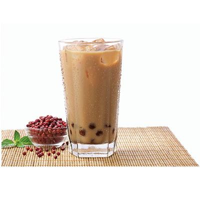 下午茶-红豆珍珠冻奶茶