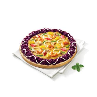 海鲜至尊比萨(紫薯饼边)