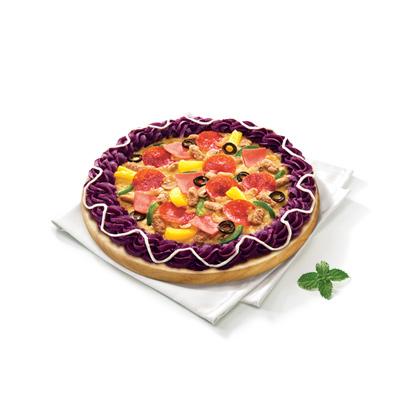 超级至尊比萨(紫薯饼边)