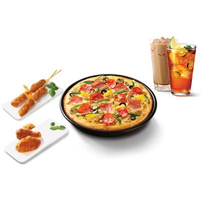 夏日限定超级至尊比萨2人餐