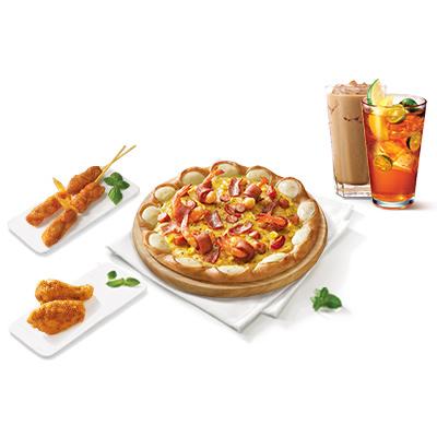 夏日限定培根大虾比萨2人餐