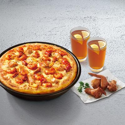 小龙虾比萨2人套餐