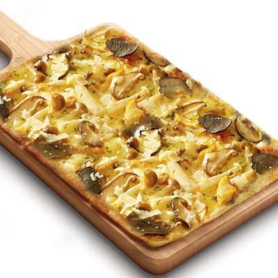 黑松露菌菇鸡肉比萨
