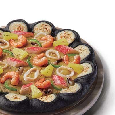 海鲜至尊芝心黑比萨