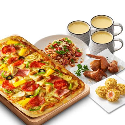 比萨三人餐