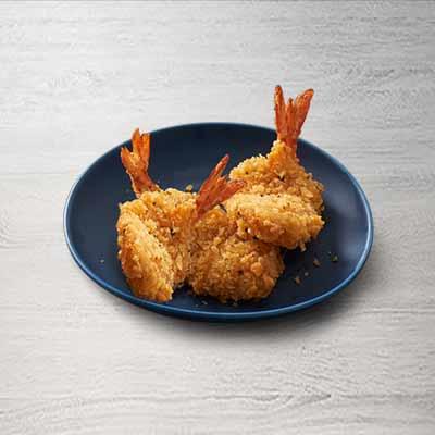 香草凤尾虾(3只)